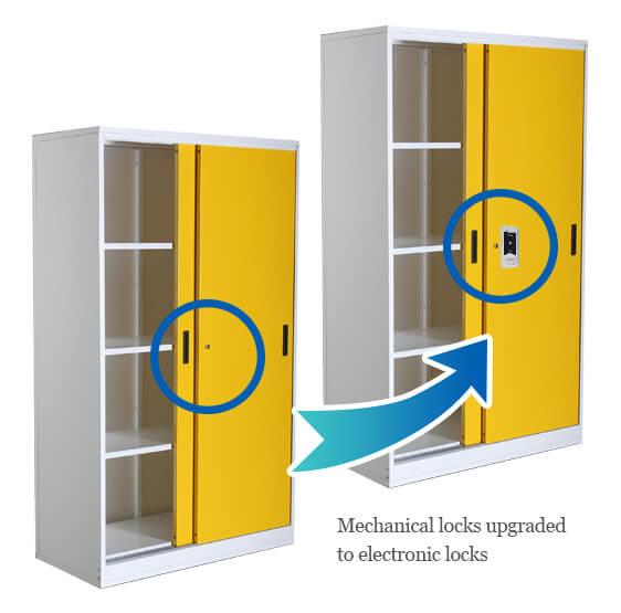 Keyless gym locker locks