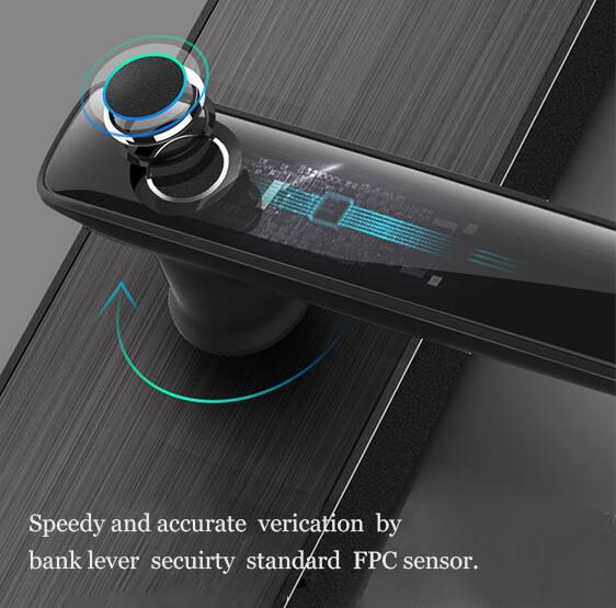 door lock with fingerprint lock