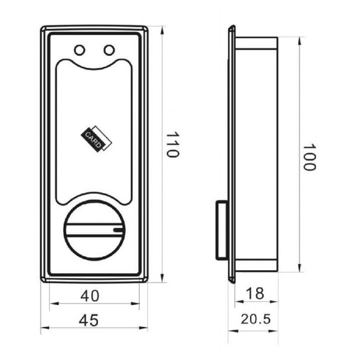 4 battery powered rfid cabinet lock