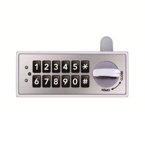 Keypad lock file cabinet