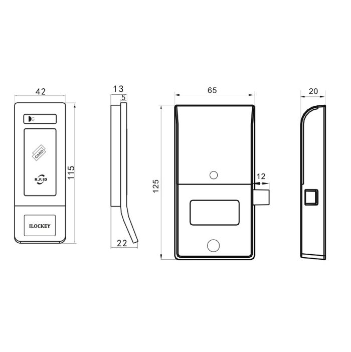 electronic rfid cabinet lock