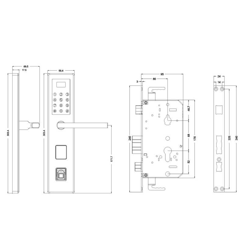 fingerprint door lock access control