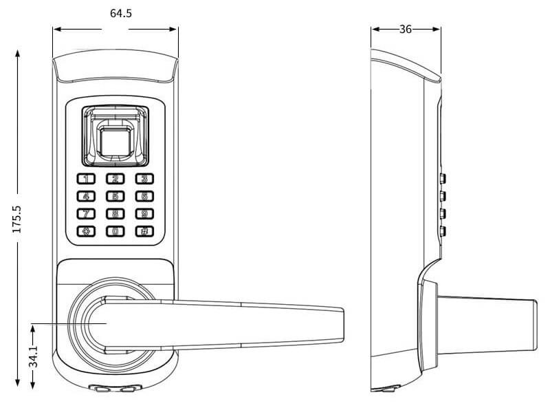 Fingerprint Door Lock for Office