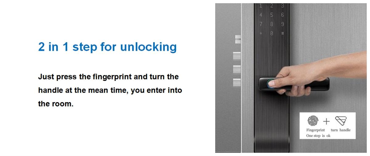 Top fingerprint door lock
