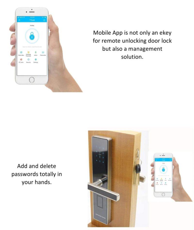 Bluetooth front door lock