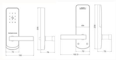 Smartphone door lock size