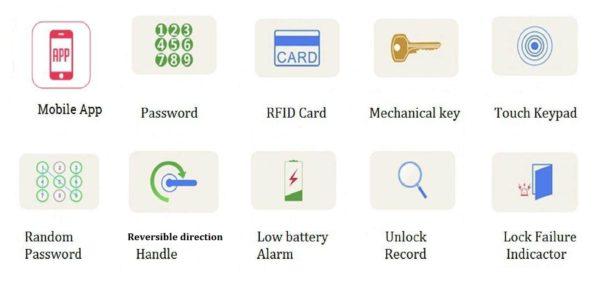 Bluetooth front door lock icon